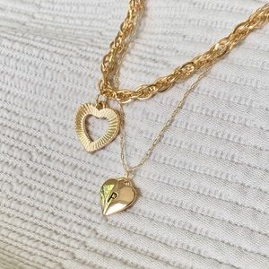 "| sweet heart ""p"" pendant necklace 